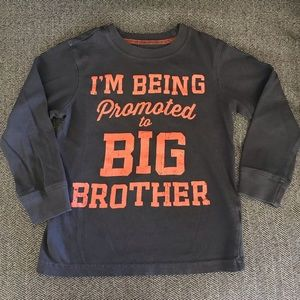 Pregnancy/ brother announcement shirt 3t